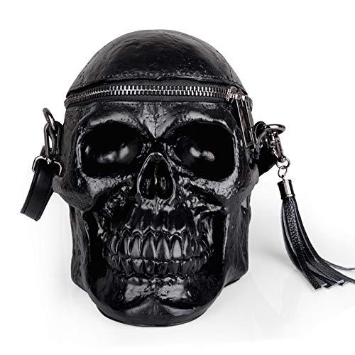 Cráneo Cabeza Mujer Bolso de Hombro gótico Bandolera Bolsa de Esqueleto de Silicona