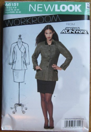 New Look Pattern A6151 Misses' Jacket Size 4 - 16 (Workroom From Project Runway) by Workroom from Project Runway