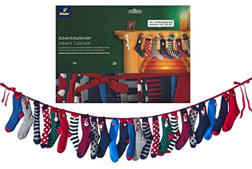 TCM Tchibo Adventskalender 12 Paar Socken inkl. Nummern zum Befüllen oder Tragen