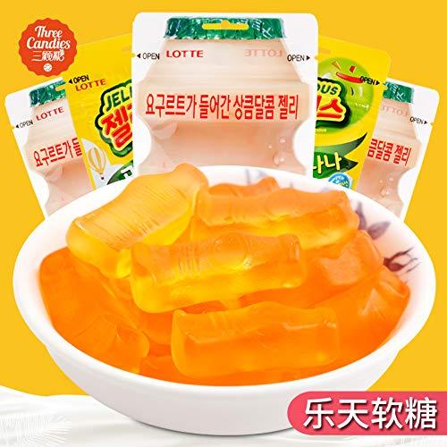 韩国进口乐天乳酸菌软糖酸奶味果汁软糖橡皮糖儿童糖果零食QQ糖