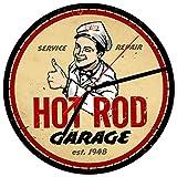 Reloj de pared vintage para garaje 12 Hot Rod Service Gas Oil Americana Mecánico Nostálgico Retro Garaje Bar Cocina Hombre Cueva Regalo