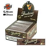 Display Smoking King Size Papier à cigarette Marron 50 x 33 feuilles
