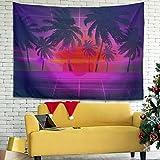 Facbalaign Palm Tree - Tapiz para pared (200 x 150 cm), color morado