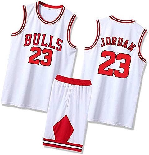 Hombres Michael Jersey De Baloncesto #23 Jordan 1996/97 Temporada Chicago Classics Bulls Transpirable Competition Top+Shorts 1 Set - Blanco