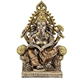 Leekung Ganesha Statue Home Decoration, Elephant God Ganesh Statues in Antique Finish, Hindu Ganesha Figurine Meditation Decor 8.3 inch