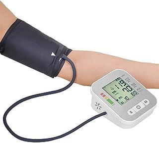 Life HS Monitor De Presión Arterial, Máquina Brazo Superior Esfigmomanómetro Recargable BP Monitor con Pantalla LED, 2-User con 99 Lecturas Función De Memoria