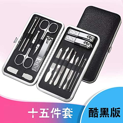 pince à ongles coupe ongle Nail Clipper Set Stainless Steel Pedicure Nail Groove Nail File-18 piece set blue