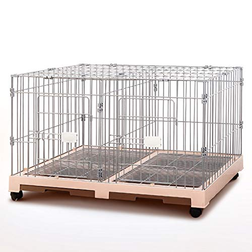 HMDJW Puppy Pet Cage 2307 Large Car Paint Jaula for Perros Jaula for Mascotas Superpuesta Extraíble Suministros for Mascotas Cat and Dog Cage Pet Nest (Color : A)