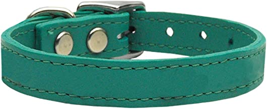Mirage Pet Products Plain Leather Collars Jade 10