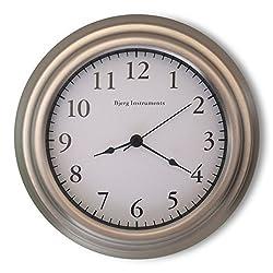Bjerg Instruments Small 8 Wall Clock (Satin Nickel)