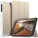 ELTD Funda Carcasa para Samsung Galaxy Tab S3 9.7, Ultra Delgado Stand Función Smart Fundas Duras Cover Case para Samsung Galaxy Tab S3 9.7 Tableta, (Oro)