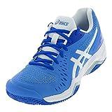 ASICS Women's Gel-Challenger 12 Clay Tennis Shoes, 7.5M, Blue Coast/White