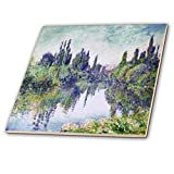 3dRose 3D Rose Print of Monet Painting Morning On The Seine-Ceramic Tile, 12-inch (ct_204173_4)
