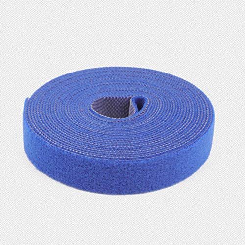 1 Rol 2cm * 5m Magische kleur Lijm Zelfklevende tape Band hoepel lus riem klittenband sluitingstape krasrol bevestigingstape, blauw