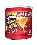 Pringles Original - 12 latas pequeñas de patatas fritas para viajes (12 latas de 40 g)