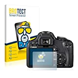 BROTECT Protector Pantalla Anti-Reflejos Compatible con Canon EOS 500D (2 Unidades) Pelicula Mate Anti-Huellas