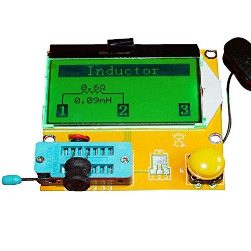 KKmoon Multifunktionale Transistor Tester【Widerstand + Kapazität + Diode + Thyristor + Induktivität + Transistor + MOS-Röhre/LCD-Hintergrundbeleuchtung】