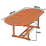 Deuba Sitzgruppe Moreno 8+1 Eukalyptusholz klappbar 9-TLG Tisch Sitzgarnitur Holz Gartenmöbel Garten Set - 7