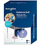 Balance Ball - No-Roll Weighted Seat is a Flexible Chair for School, Office or Home (Small, Purple)