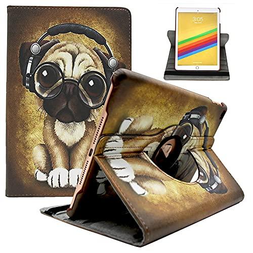 Amlope Hülle für iPad 2017 / iPad 2018 / iPad Air/iPad Air 2, 360 Grad Rotierend Kunstleder Schutzhülle Tasche mit Auto Schlaf/Wach Funktion für 9,7' iPad 2017 & 2018, iPad Air, iPad Air 2, Hund