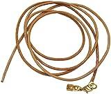unbespielt Collar de cordón de Cuero para Colgante, Color marrón Natural, Cierre de Langosta Chapado en Oro, 1 m x 2 mm, acortable