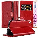 Cadorabo Funda Libro para Sony Xperia E5 en Rojo Burdeos - Cubierta Proteccíon con Cierre Magnético, Tarjetero y Función de Suporte - Etui Case Cover Carcasa