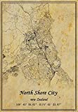 Neuseeland North Shore City Map Poster Kunstdruck auf