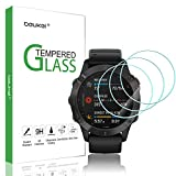 (3 Pack) Beukei for Garmin Fenix 6/6 Pro / 6 Sapphire Screen Protector Tempered Glass, Anti Scratch, Bubble Free (Not Fit for Fenix 6S/6X)