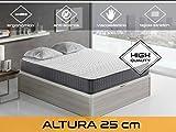 Dormi Premium Velvet 25 5.0  -  Colchón viscoelástico y grafeno, 140 x 190 x 25 cm, F/Alta, Todas Las Medidas