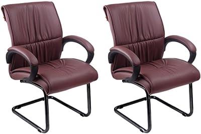Mavi Attractive Look Maroon Visitor Chair Set of 2 (DVC-475)