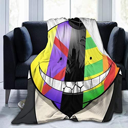 Madarstore Vintage Blankets, Assassination Classroom Koro-Sensei Soft Sofa Throw, Personality No Fade Fuzzy Blanket for Outdoors Bedroom Sofa 50X40 in