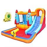 ZHENGRUI Centro de juegos de tobogán acuático inflable, castillo de salto hinchable para niños con soplador de aire, fiesta de verano para jardín al aire libre