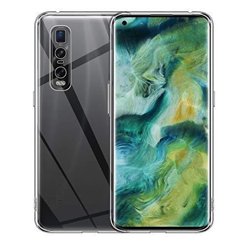 ELYCO für Oppo Find X2 Pro Liquid Crystal Hülle, Superdünnes Softschale R&umschutz Anti-Fall Anti-Fingerabdruck TPU Handyhülle Durchsichtige Schutzhülle Hülle für Oppo Find X2 Pro [Transparent]