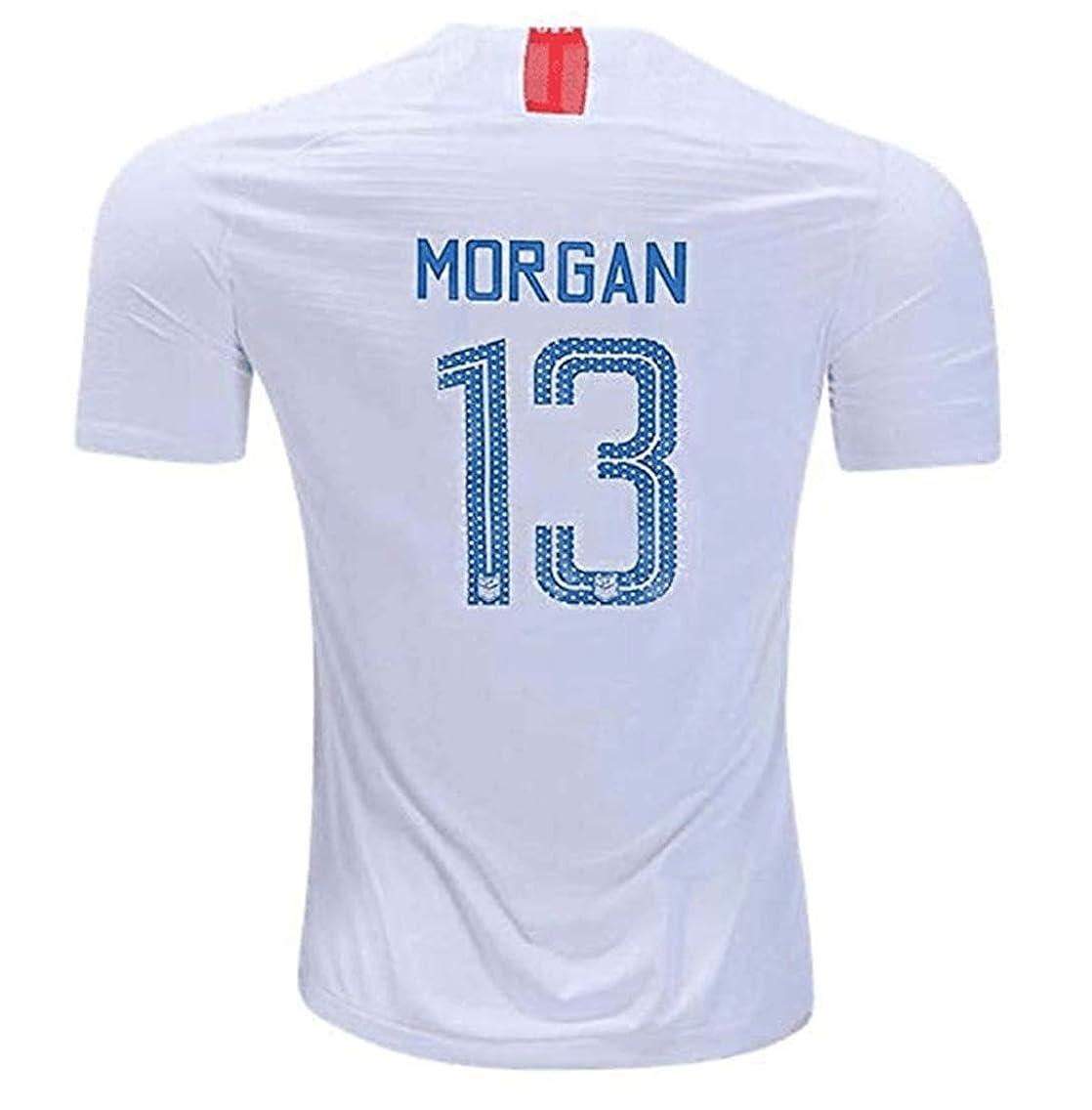 LISIMKE Soccer Team 2018/19 USA National Home Morgan Womens Replica Jersey:Jersey&Shorts Kid Youth Replica Jersey Kit
