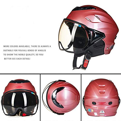 JIE KE Helm Unisex Zomer Elektrische Motorfiets Lichtgewicht Halve Helm Vier Seizoenen Harde Hoed
