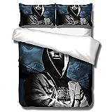 Tupac 2Pac ropa de cama con funda nórdica impresa rapero, cama individual suave y cómoda 3D cama doble para adultos y adolescentes edredón ropa de cama textiles para el hogar-A_140x210cm (2pcs)