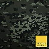 Dunkelgrünes Flecktarn Camouflage Baumwoll-Twill Stoff