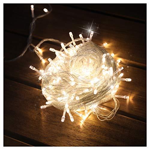 Byqny Sterne Lichterkette, Led Lichterkette mit Stecker Warmweiß Lichterkette für Draußen 8 Lichtprogramme für Weihnachten, Partydekoration, Innenbeleuchtung, Party
