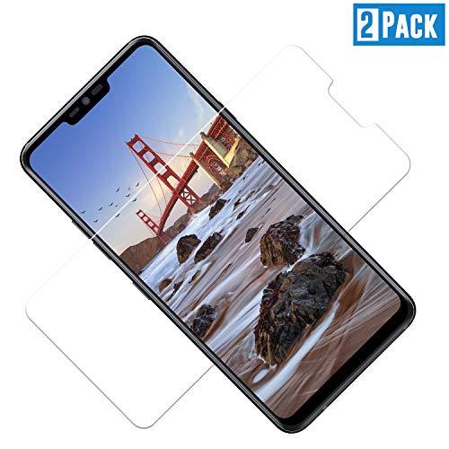 TOIYIOC Pellicola Protettiva per LG G7 ThinQ [2 Pack], Pellicola Vetro Temperato LG G7 ThinQ Schermo Screen Protector con durezza 9H-Anti-Impronte e Anti-Bolle per LG G7 ThinQ