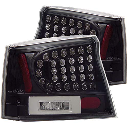 Anzo USA 321014 Dodge Charger Black LED Tail Light Assembly - (Sold in Pairs)