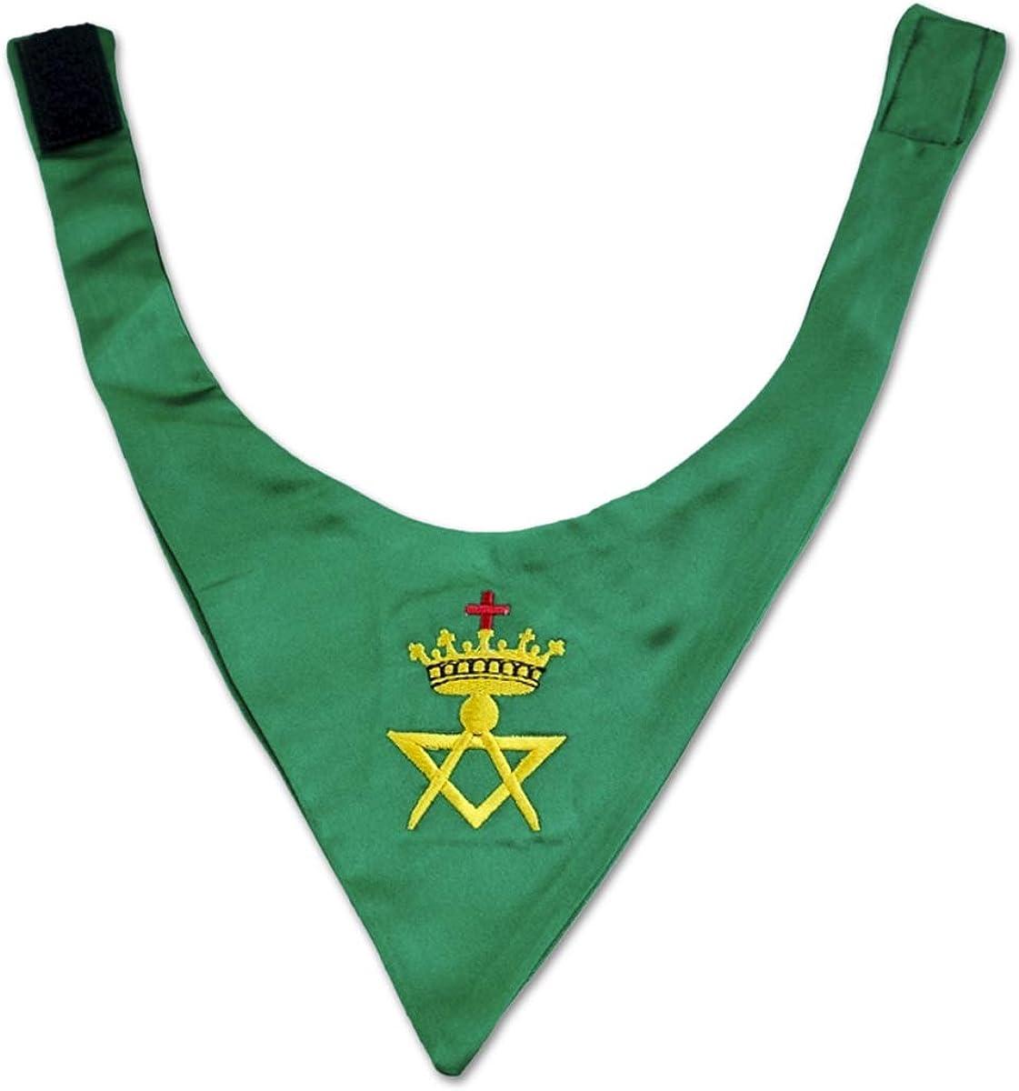 Cryptic Council Satin Masonic Cravat - [Green]