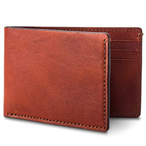 Bosca Men's Small Bifold Italian Leather Wallet In Cognac