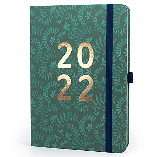 Boxclever Press Perfect Year 2022 Diary A5 Page a Day. A5 Diary, Daily Planner 2022 runs Jan – Dec'22. Diary 2022 Day per Page with Checklists. 2022 Planner for Busy Schedules.