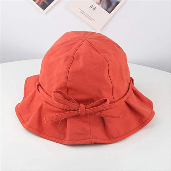 Forevv/_Hat Toddler Baby Kids Girls Cute Fashion Two-Sided Candy Solid Ribbons Breathable Cap Fishermans Hat Casual Beanie
