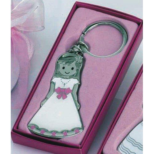 Llavero niña comunión GRABADO (pack 12 llaveros) detalles regalos PERSONALIZADOS para invitados