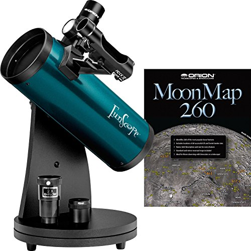 Orion 10033 FunScope - Kit de telescopio y Luna para Mesa (76 mm), Color Azul