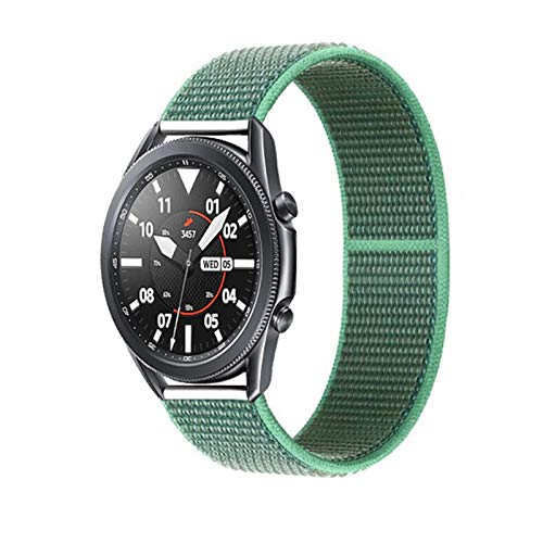 HGGFA 20 22mm Watch Band for Gear S3 Frontier Strap Galaxy Watch 3 45mm 41mm 46 Active 2 44mm 40mm Nylon para Huawei Watch GT2E / 2 Strap 42 (Band Color : Spearmint 31, Band Width : 22mm)