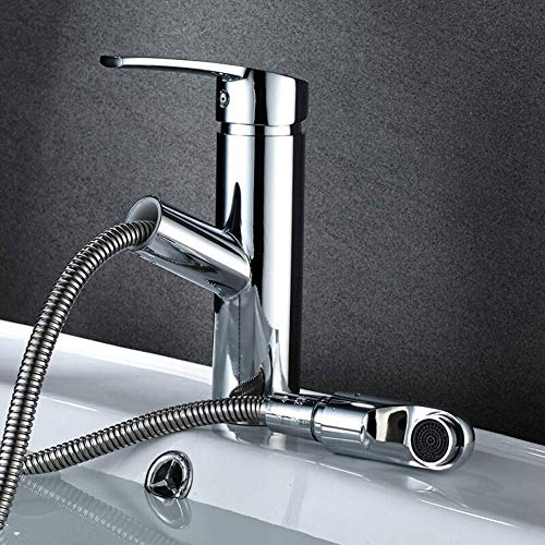 SH-CHEN Faucet Bathroom Basin Sink Faucet Pull Rinser Sprayer Gargle Brushing Hahn Kitchen Faucet by Single Handle Kitchen Faucets Taps for Bathroom