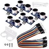 kuman 5pcs Hc-sr04 Ultrasonic Distance Measuring Sensor Module kit for Arduino Mega2560 Duemilanove Raspberry Pi 3 Robot K18
