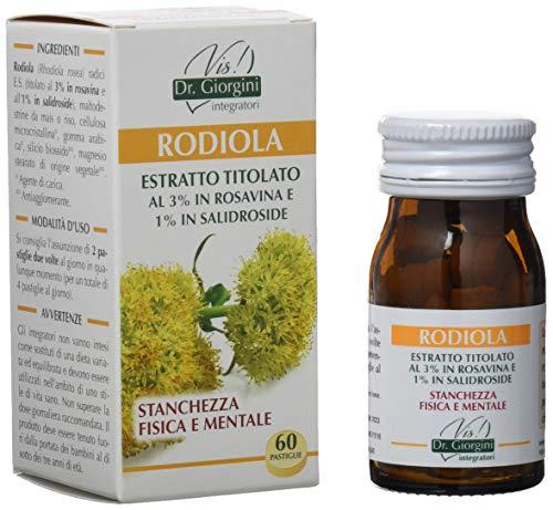 Dr. Giorgini Integratore Alimentare, Monocomponenti Erbe Rodiola Estratto Titolato al 3% in Rosavina e 1% in Salidroside Pastiglie - 30 g